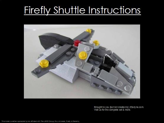 Firefly Shuttle Build Instructions Etadyne Industries Llc